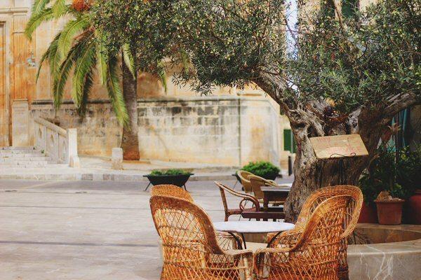 Mallorca Straßencafe