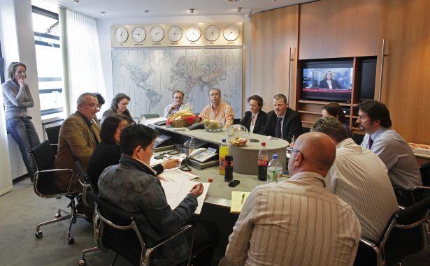 Bei größeren Krisen tritt der TUI Krisenstab zusammen, hier bei der Aschewolke im April 2010.