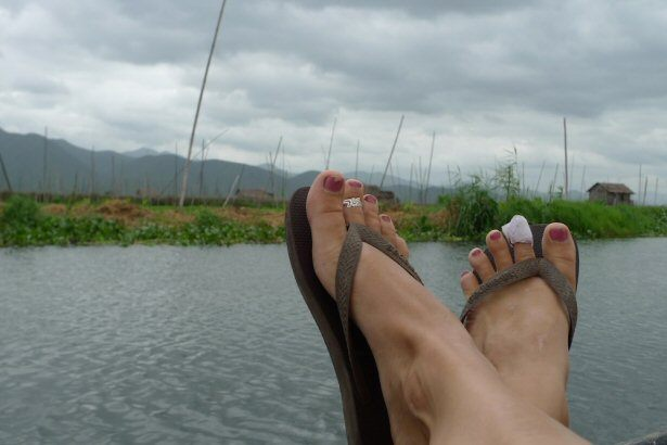 Flip Flops sind in Südostasien ein Muss