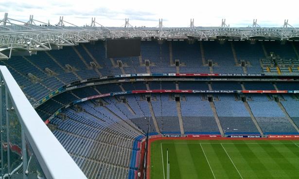 Croke Park ist das größte Stadion Irlands
