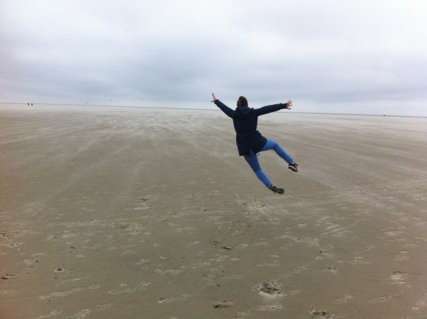 Sprung am Strand von St. Peter Ording