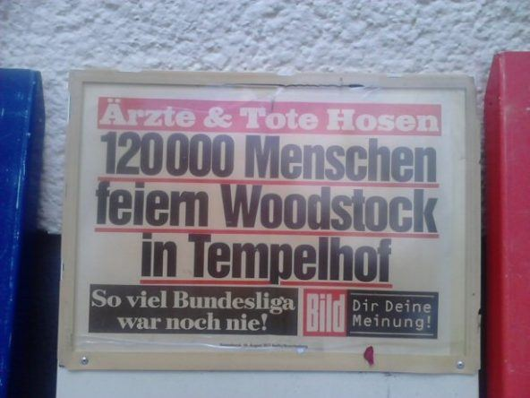Titelseite der Beliner Bild Zeitung