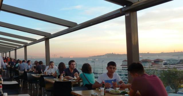 Abendessen mit Panoramablick