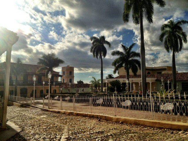 Der kleine Marktplatz in Trinidad auf Kuba