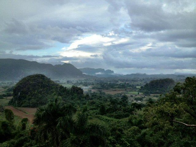 Ausblick über das Vinales Tal auf Kuba