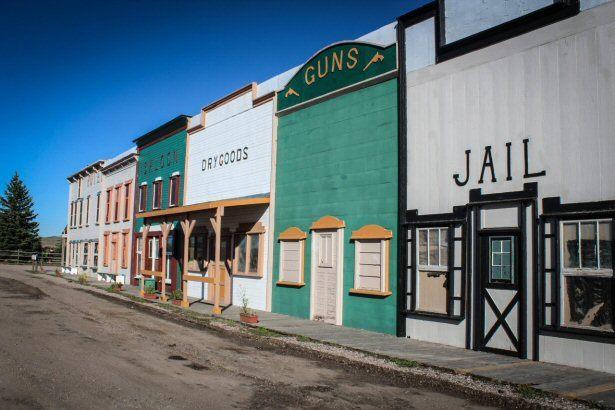Western-Kulisse in Wyoming