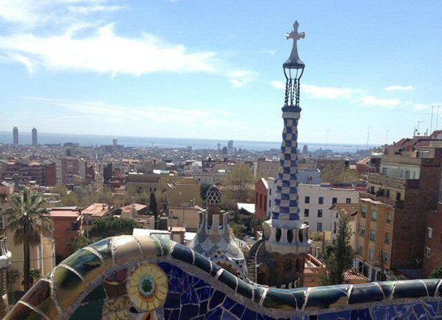 Ausblick auf Barcelona aus dem Park Guell
