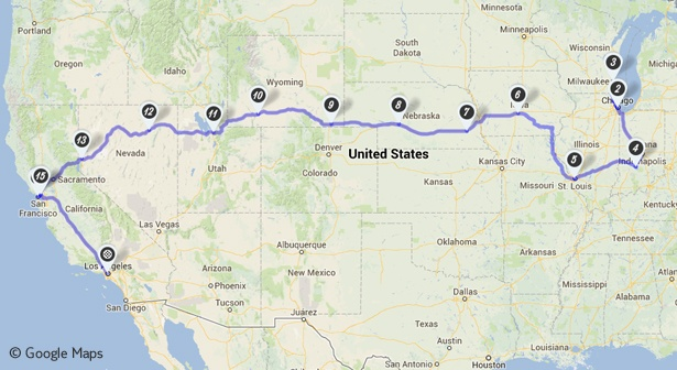 Angelikas Route mit dem TUI Camper quer durch die USA