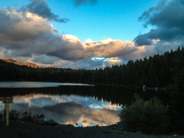 Sonnenuntergang Sierra Nevada