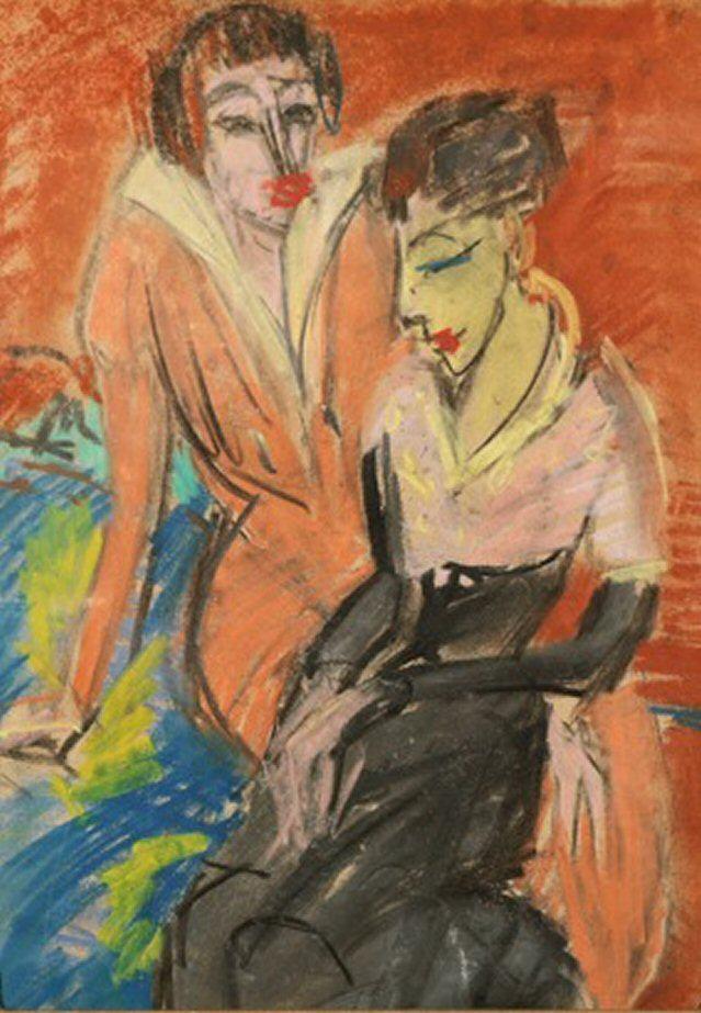 Gemälde Zwei Frauen