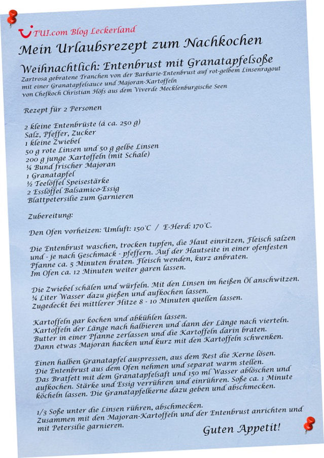 Rezept: Entenbrust mit Granatapfelsauce