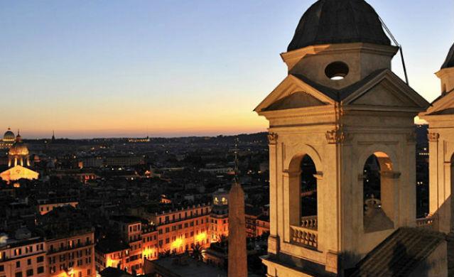 Blick auf Rom von oben