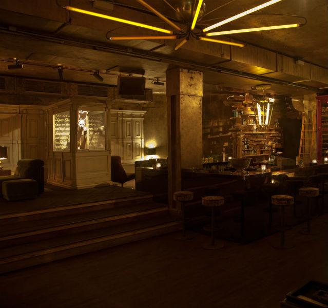 Bar mit Retro-Einrichtung