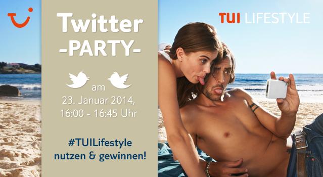 Ankündigung zur ersten TUI Twitterparty