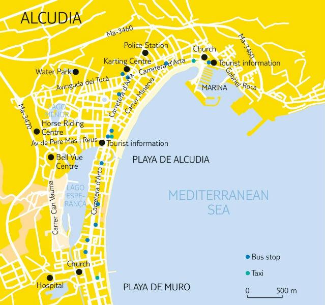 Karte von Alcúdia