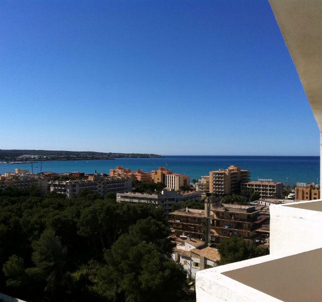 Blick von einem der RIU-Hotels auf die Hotellandschaft an der Playa de Palma