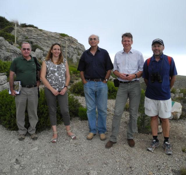 Vertreter von Regierung, Naturparkverwaltung und Prof. Harald Zeiss auf Mallorca
