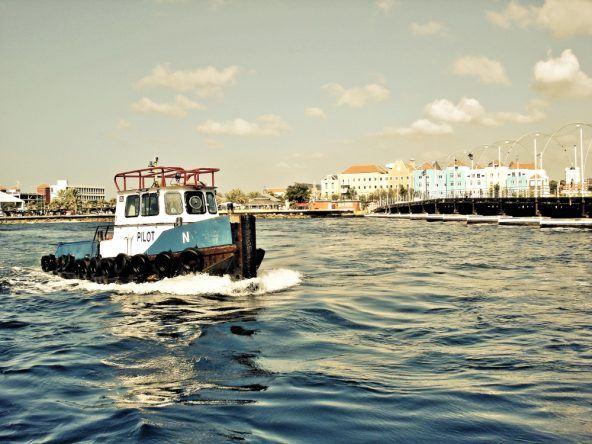 Curacao Willemstad vom Wasser