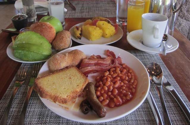 Als erstes wurde das Frühstück getestet.