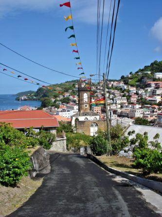 Straße auf Grenada
