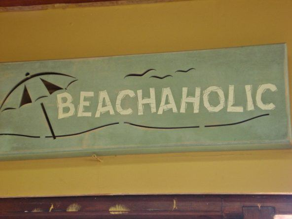 Karibk Beachaholic Schild
