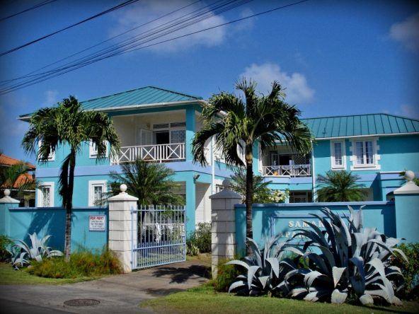 St. Lucia blaues Haus