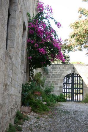 Hausfassade in Rhodos-Stadt