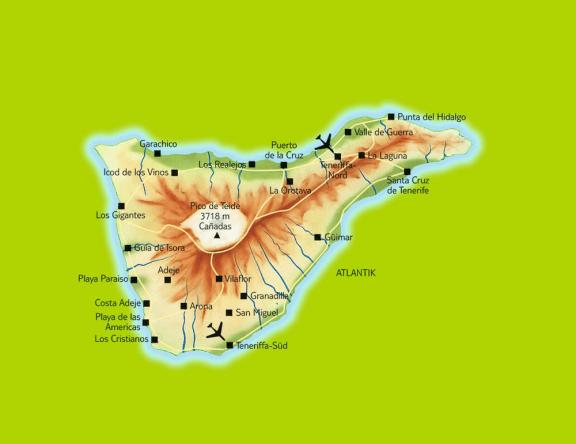 Der Teide thront genau im Zentrum der Insel