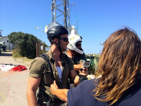 Mallorca Dominic Boeer Start Paragliding