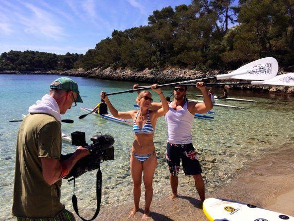Trockenübungen Mallorca Dominic Boeer Stand Up Paddling