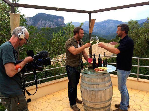 Weinverkostung Mallorca Dominic Boeer