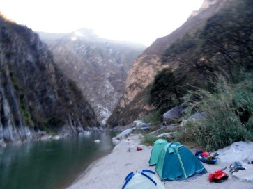 Camp in der Schlucht des Apurimac