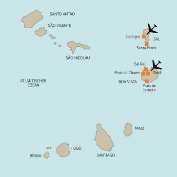 Karte Kapverdische Inseln