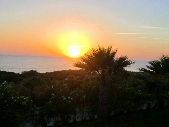 Sonnenuntergang in Andalusien an der Costa de la Luz