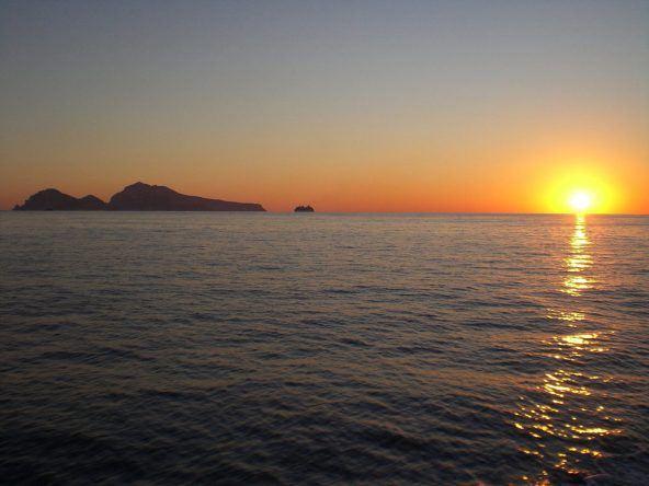 Sonnenuntergang auf Capri (Italien)