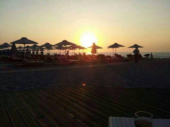 Sonnenuntergang in Rethymnon auf Kreta