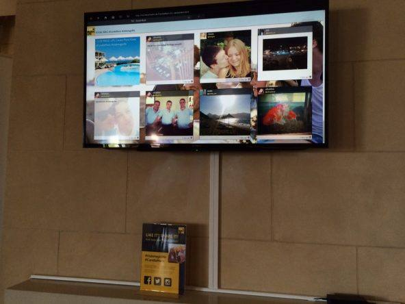 Social Wall im CLUB MAGIC LIFE Candia Maris