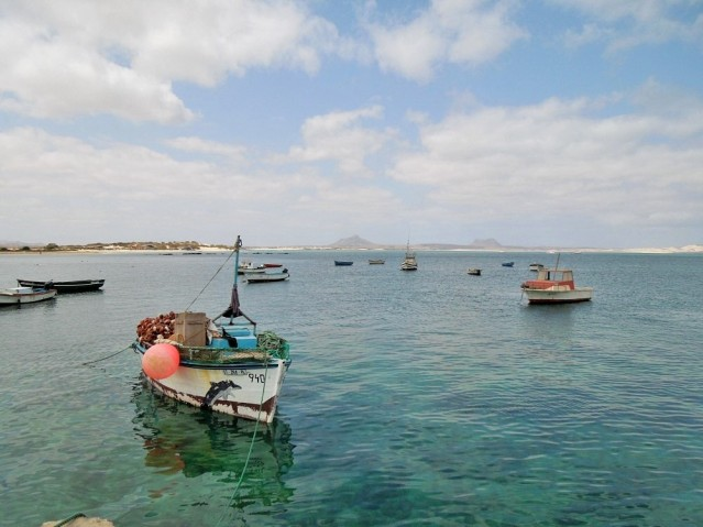 Kapverden-Insel Boa Vista Boote Sal Rei