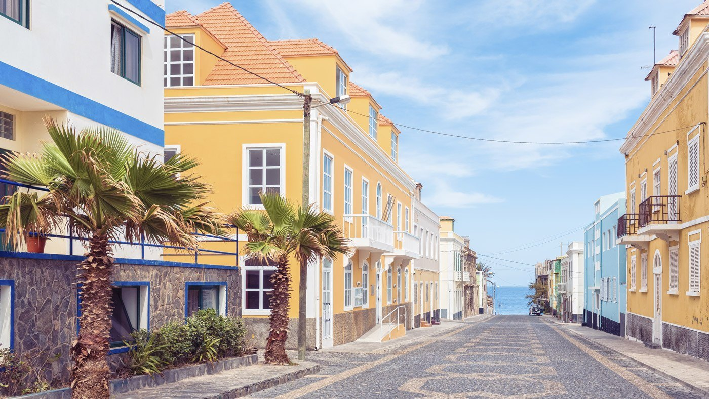 Bunt ist die Welt. Schöne Häuserfassaden auf den Kapverden