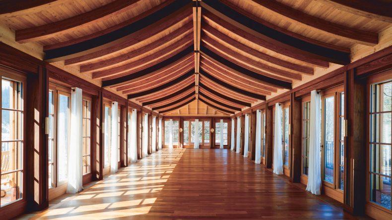 Der Yogaraum im Schloss Elmau