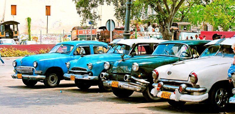 Typische kubanische Oldtimer