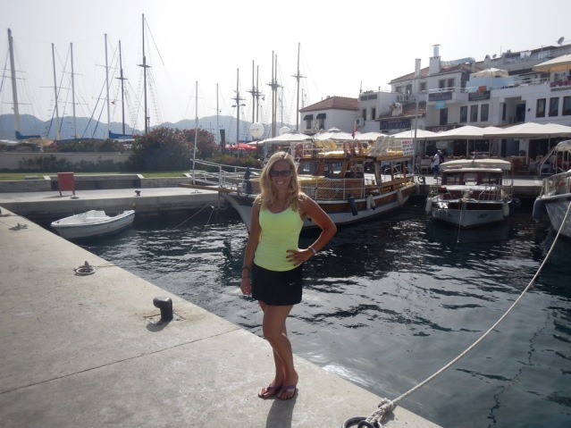 Kurzes Posing im schönen Hafen von Marmaris