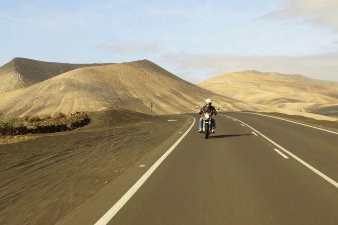 Motorrad fahren auf Lanzarote