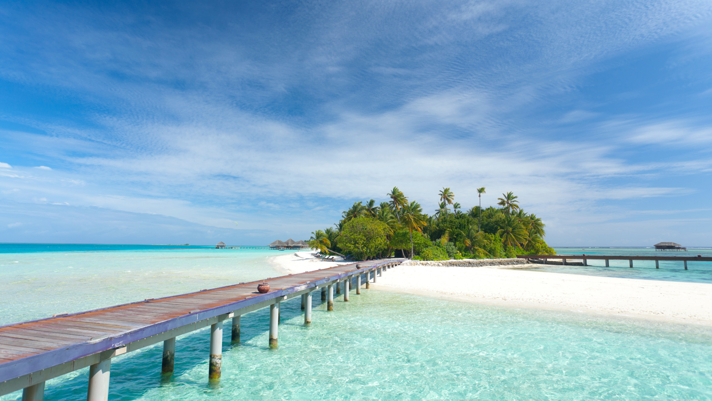 Puderzuckerstrände & türkisblaues Meer auf den Malediven
