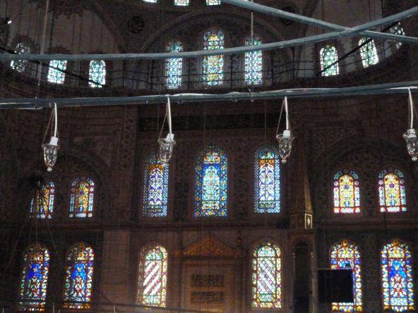 Fenster der blauen Moschee