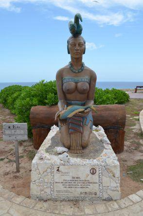 Statue auf Isla Mujeres