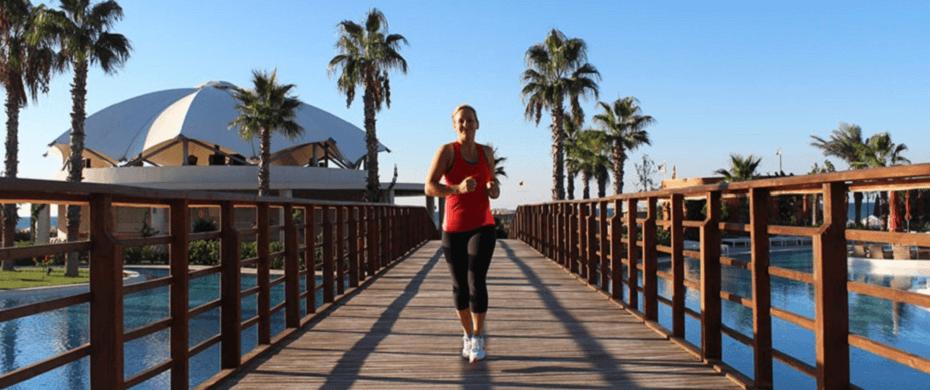 Workout an der türkischen Riviera