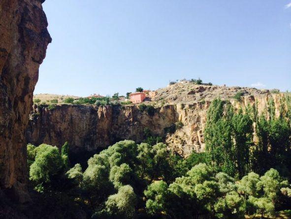Ein Haus auf den Felsen der Kappadokien