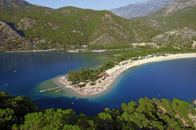 Der Ölüdeniz Strand in Fethiye