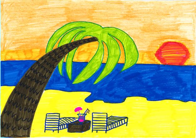 Helene träumt von Sonnenuntergängen am Meer
